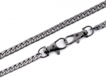 Bag / Purse Metal Chain with Lobster Clasp length 120 cm flat