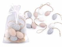 Decorative Easter Eggs with Jute String