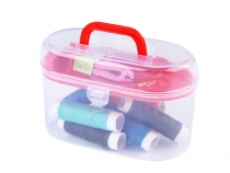 Sewing Kit in Plastic Box - small size