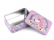 Tin Box / Cookie, Candy Jar Unicorn