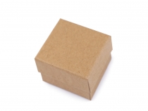 Paper Gift Box Natural 5x5 cm for Jewellery