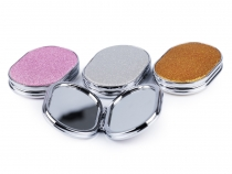 Cosmetic Pocket Mirror with Glitter