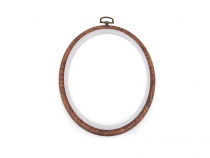 Cross Stitch / Embroidery Oval Frame to Hang 13.5x17.5 cm