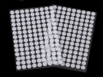Hook And Loop Self Adhesive Circles / Dots Ø10 mm