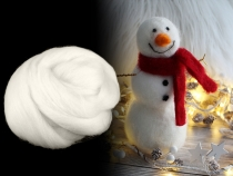 Wool Fleece Roving 20 g combed Snow White