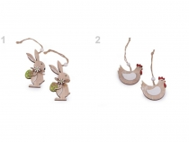 Easter Wooden Decoration to hang - Bunny, Hen