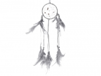Dreamcatcher with Beads and Feathers
