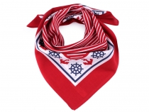 Cotton Scarf with Anchors 55x55 cm