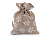 Gift Bag with Snowflakes and Glitter 13x18 cm