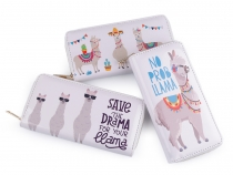 Girls / Ladies Zip Around Wallet Llama