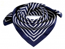 Sating Scarf with Stripes 55x55 cm