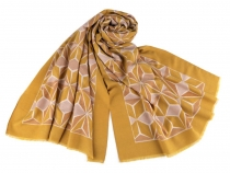 Warm Scarf with Geometric Pattern 65x190 cm