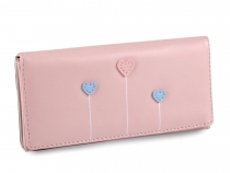 Ladies / Girls Wallet Hearts 9x18 cm