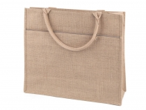 Jute Shopping Tote with Pocket 39x44 cm 2nd quality