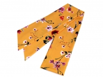 Narrow Scarf for Head / Neck / Purse, Meadow Flowers