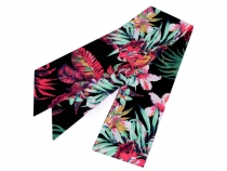 Narrow Scarf for Head / Neck / Purse, Tropical