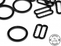 Plastic Bra Ring and Slider width 14 mm