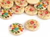 Wooden Buttons FLOWER size 28