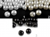 Sew-on Faux Pearl Bead / Button Ø10 mm