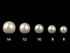 Sew-on Faux Pearl Bead / Button Ø9 mm