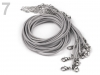 Braided Necklace Cord with  Lobster Clasp length 45 cm