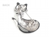 Rhinestone Brooch Cat