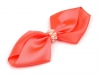 Decorative Ribbon Bow with Beads 40x75mm