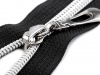 Nylon Zipper with Silver Teeth width 7 mm length 50 cm