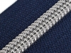 Nylon Zipper with Silver Teeth width 7 mm length 80 cm