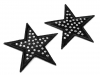 Iron on Patch Star with Rhinestones