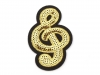 Iron on Patch Treble Clef with Sequins