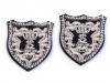 Iron on Patch Crest with Rhinestones