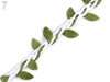 Cotton Braided String with Leaves width 30 mm