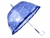 Ladies Transparent Auto-open Umbrella with Frill