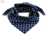 Polka Dot Cotton Scarf 65x65 cm