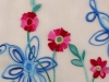 Scarf with Embroidered Flowers 70x180 cm