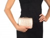 Sequin Hard Shell Clutch Bag 10.5x15 cm