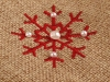 Christmas Bag / Flower Pot Cover 12x12 cm with Snowflake