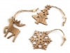 Christmas Wooden Hang Decoration - Snowflake, Tree, Reindeer