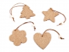 Wooden / Jute Christmas Star, Bell, Heart, Angel