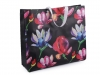 Large Shopping Tote with Flowers 48x41 cm